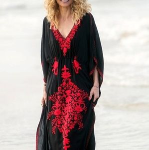 1day sale!⛱🎈Vacation Dress Black & Red Maxi OSFM